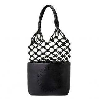 Stella McCartney Black Logo Knotted Tote Bag