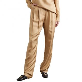 Tove Silk Twill Tapered Remi Flaxen Trousers