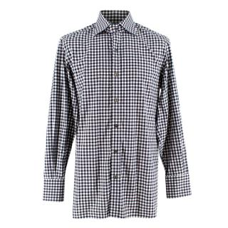 Tom Ford Black & White Cotton Gingham Shirt