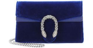 Gucci Dionysus blue velvet super mini bag