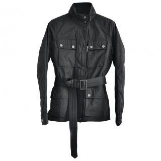 Ralph Lauren RLX black cotton blend utility jacket