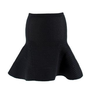 Lanvin Black Textured Flounce Hem Skirt