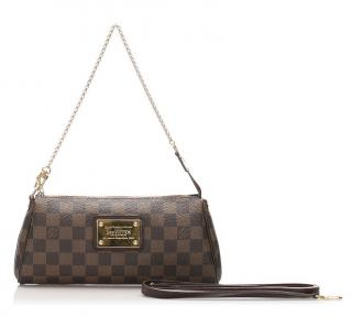 Louis Vuitton Damier Ebene Eva brown shoulder bag