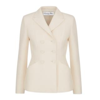 Christian Dior Bar white wool & silk blend jacket