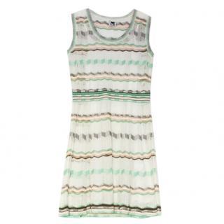 M Missoni white & green sleeveless dress