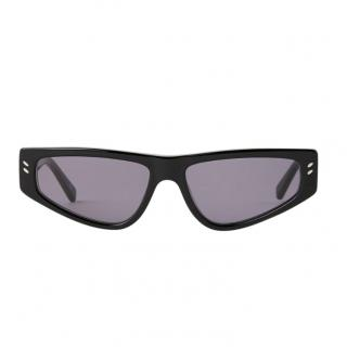 Stella McCartney Black Cat-eye bio-acetate Squared Sunglasses