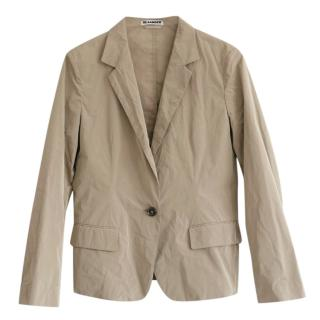 Jil Sander Beige Lightweight Tailored Jacket
