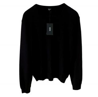 Boss Hugo Boss black v-neck long sleeve knitted jumper