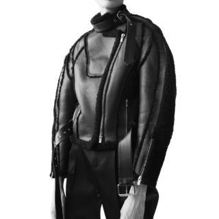 Peter Do Black Car Seat Shearling Jacket