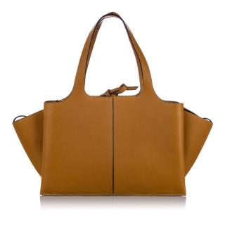 Celine Medium Trifold Leather Shoulder Bag