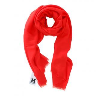 M Missoni cashmere blend red shawl