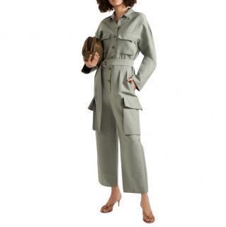 Frankie Shop Linda Sage Green Boiler Suit - New Season