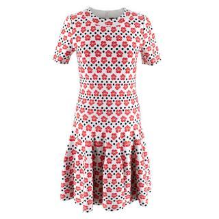 Alaia Polka Dot Orchid Jacquard Knit Dress