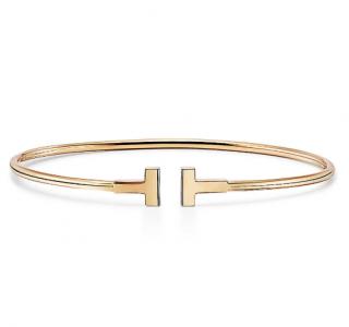 Tiffany & Co. Tiffany T 18ct yellow gold medium narrow wire bracelet