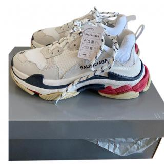 Balenciaga cream triple s sneakers