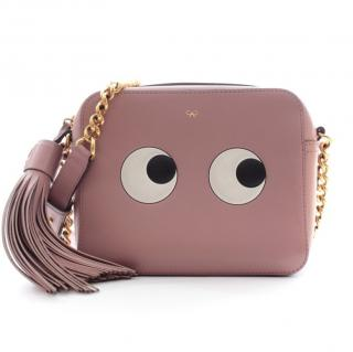 Anya Hindmarch Eyes pink leather crossbody bag
