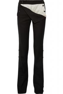 Monse black wool-blend straight leg trousers