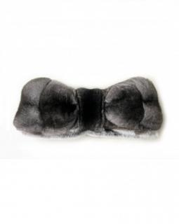 FurbySD chinchilla black & grey fur scarf
