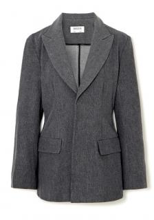 Gauchere Palmira slim grey cotton blazer