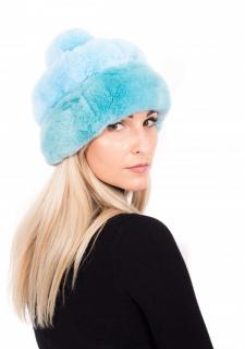 FurbySD blue Chinchilla fur hat