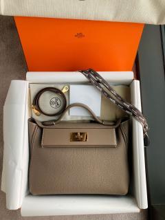 Hermes Taurillon Maurice Anemone 24/24 bag
