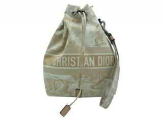 Christian Dior Toile de Jouy Pink bucket bag