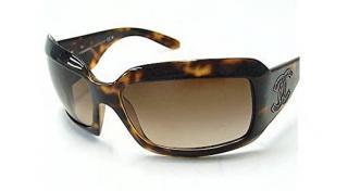 Chanel vintage c.912/13 brown square sunglasses