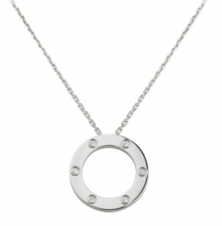 Cartier Love necklace with diamonds