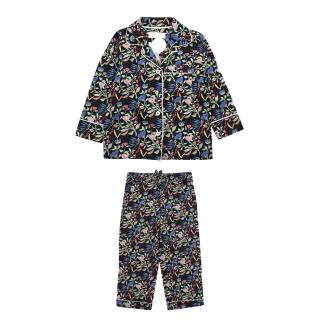 Little Yolke Anais Black Silk Pyjamas