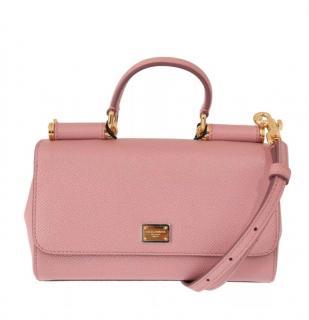 Dolce & Gabbana Sicily pink leather shoulder bag