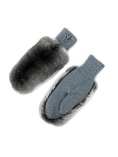 FurbySD grey chinchilla fur gloves