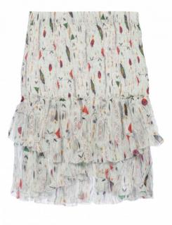 Isabel Marant Etoile multicoloured pattern silk mini skirt
