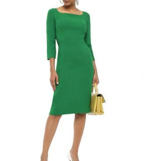 Dolce & Gabbana Crepe Green Fitted Dress