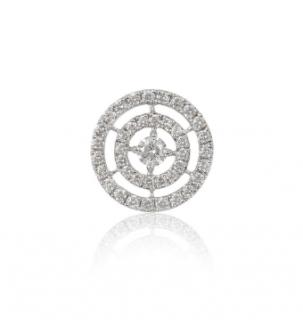 Bespoke White Gold Diamond Halo Pendant