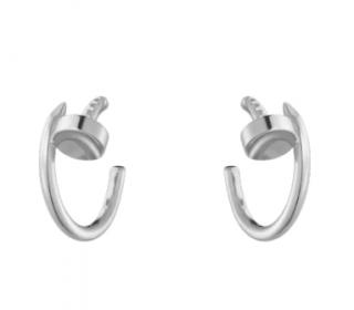 Cartier juste un clou white gold hook earrings