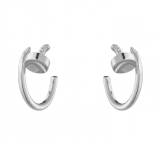Cartier juste un clou white gold hook earrings