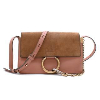 Chloe Cement Pink Small Faye Shoulder Bag