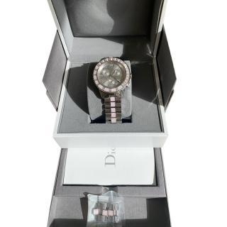 Christian Dior Christal Diamond & Pink Sapphire Crystal Watch