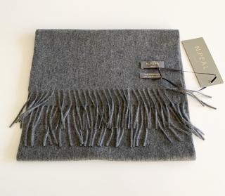 N.Peal Elephant Grey cashmere scarf