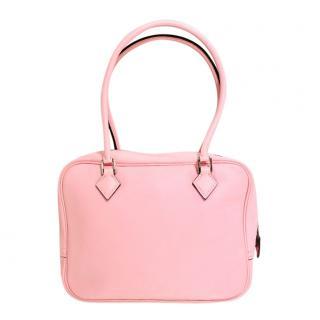Hermes Plume 21 pink leather bag