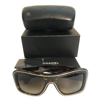 Chanel Aviator Tortoiseshell Sunglasses