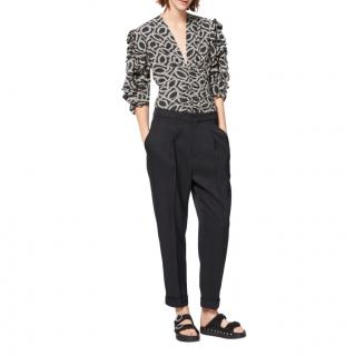 Isabel Marant silk-blend ruffle sleeve top
