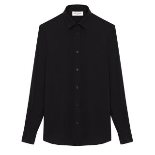 Saint Laurent Black Egyptian Cotton Made Shirt