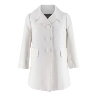 Louis Vuitton White Cotton Car Coat