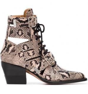 Chloe Rylee 60 snake print leather ankle boots