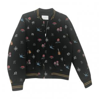 Sandro Embroidered Bomber Jacket