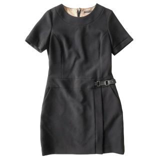 Natan Edition Black Crepe Shift Dress