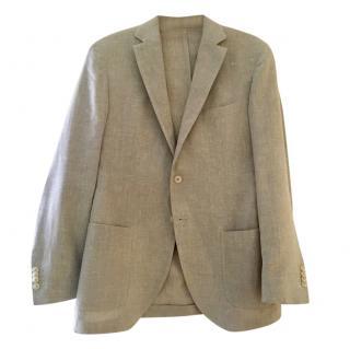 Boggi Mens Wool & Linen Lightweight Tailored Jacket size 52 reg