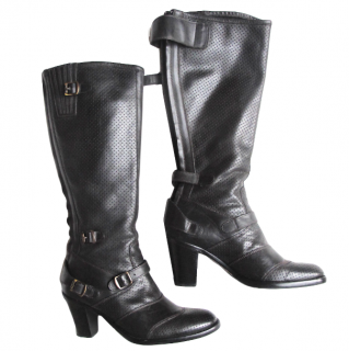 Belstaff Black Perforated Trialmaster Boots