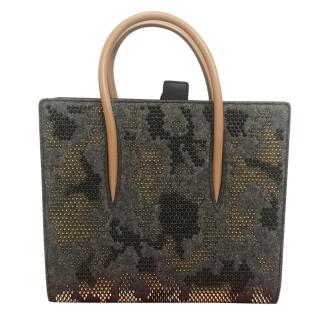 Christian Louboutin Studded Felted Tote Bag